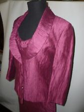 PRECIS PETITE PINK   DRESS SUIT  MOTHER OF THE BRIDE   SIZE UK 10