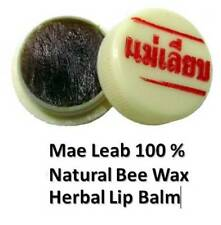 1 X  Mae Leab 100 % Natural Bee Wax Herbal Lip Balm