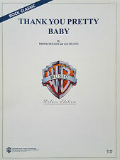 Brook benton: merci pretty baby (piano/vocal/guitar sheet music) - mint!
