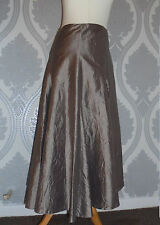 100% Silk flared skirt from Monsoon - pale gold - sz 10