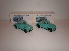1/43 Set of two models 1938 Opel Kadett cabriolet open and closed light green