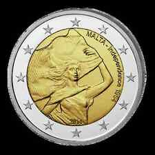 MALTE 2 Euros 50 years Independance 1964 2014 UNC