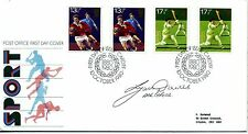 1980 Sport fdc SIGNED Lynn Davies, Athletics