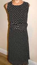 PLUS SIZE 22W-VOIR VOIR WOMAN-SEXY BROWN DRESS WITH WHITE POLKA DOTS-PREOWNED-18