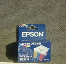 New Unopened Epson Color Ink Cartridge Stylus Color 200 500 Model S020097