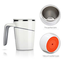 Double Layer Stainless Steel Drinking Beer Tea Cup Coffee Mug Travel 470ML White