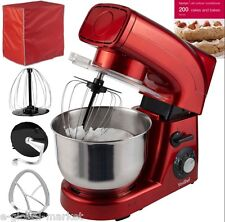 Stand Mixer Blender Electric Grinder Guard Kitchen Cook Book Cakes COVER RED