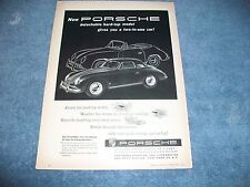"1958 Porsche Speedster 356A Vintage Ad ""Detachable Hard-Top Model..."""