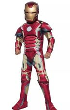 NWT Boys Marvel AVENGERS 2 Age Of Ultron IRON MAN Rubies Costume Sz Medium 8-10