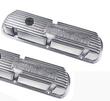 New! Ford Mustang Valve Covers Powered by Ford 289 V8 Running Horse Polished