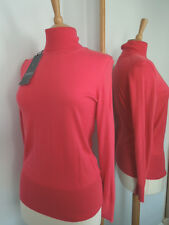 RRP £135, ESCADA SPORT, S/8-10 Luxurious Dusky Coral Finest Silk/Cotton Sweater