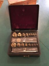 16 PC SET OF BRISTOL-MYERS COMBINATION BRASS SCALE WEIGHTS  #204