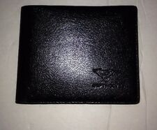 Men Cow Billfol Leather Wallet Bank Credit Card Septwolves Black
