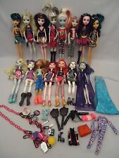 15 Mattel Teen Monster High Dolls with Clothes Shoes Jewelry + extras