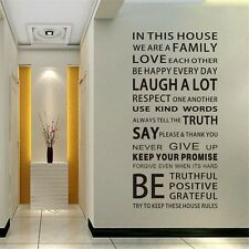 Removable Family Rules Words Vinyl Decal Art Mural Quote Wall Sticker Home Decor