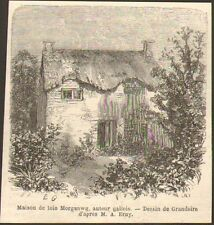 PAYS DE GALLES WALES IMAGE PRINT IOLO MORGANWG HOUSE 1867