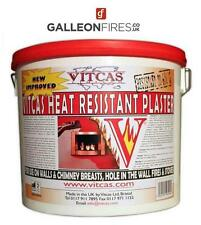 VITCAS Heat Resistant PLASTER 650°C  - For Use On Walls & Chimney Breast 10kg