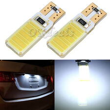 2x T10 921 W5W 194 Canbus Error Free COB White LED Bulb Light For Benz BMW 12V