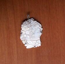 Cammeo Sardonico inciso a mano montato argento CAMEO SHELL HAND MADE SILVER FIT