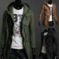 Fashion Mens Winter Hooded Cotton Coat Outerwear Military Jacket Parka Overcoat