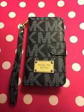 *USA Seller* New MK iPhone 7 PLUS Black Wallet Phone Case Michael Kors