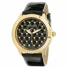 Invicta Women's 22563 Angel Quartz 3 Hand Black Dial Watch