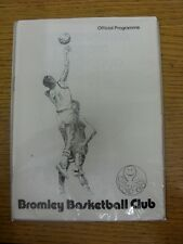 14/01/1978 Basketball Programme: Bromley v Leatherhead - 4 Pages Within Seasons