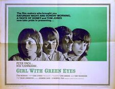 GIRL WITH GREEN EYES 1964 Rita Tushingham, Peter Finch US HALF SHEET POSTER
