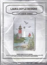 Laura Doyle Designed Counted Cross Stitch Kit Lighthouse Single Switchplate New