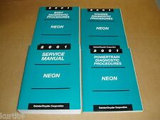 2001 Dodge Neon service shop manual 4 bk set dealer repair