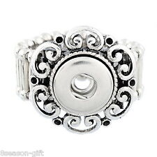 1PC GIFT Stretch Adjustable Ring Fit Mini Snap Buttons size 7.5 Heart 17.7mm
