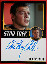 STAR TREK TOS 50e, ANTHONY CALL comme carte autographe de Dave Bailey, LIMITED EDITION