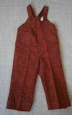 VintageNeedlecord Dungarees - Age 2-86 cm - Rust Colour - French - New