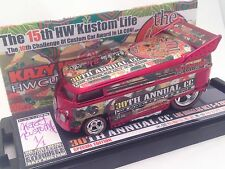 Vw Volkswagen Drag Bus Red Kazy Custom 2016 HOT WHEELS Convention 1 Of 1