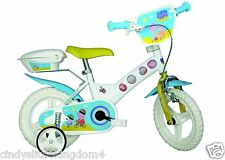 New Peppa Pig Deluxe Dino Childrens Bicycle with Stabilisers 12-inch Bike