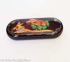 EYEGLASS CASE Russian Fairytale Firebird Hand Painted Lacquer Box style