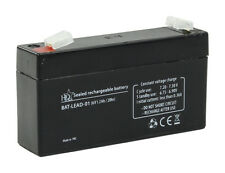 Sealed Rechargeable Lead Acid Battery  6 Volt 6V 1.2Ah Burglar Alarm Back Up Etc