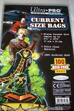 """2 Packs - 200 Ultra Pro 6 3/4"""" Current Comic Book Storage Bags Sleeves"""