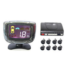 Wired LCD Display Car Parking System with 4 Front Sensors and 4 Back Sensors