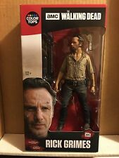 "WALKING DEAD - ""RICK GRIMES"" Color Tops Action Figure,  McFarlane (2016) NEW,"