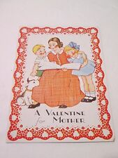 "Vintage Valentine's Day Greeting Card  ""A Valentine For Mother"" Used"