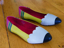 """Jeffery Campbell """"Pencil Me In"""" Leather Flat Shoes From ModCloth"""