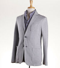New Z ZEGNA Unstructured Gray Pique Cotton Jersey Blazer Slim 40 R Sport Coat M