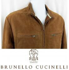 GORGEOUS! Men's BRUNELLO CUCINELLI Suede Leather Jacket Lined Bomber SZ S $5695