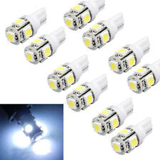 10x T10 5050 W5W 5 SMD LED 12v White Car Side Wedge Tail Light Lamp Bulb