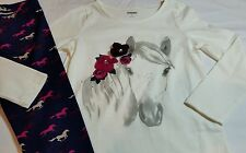 NWT Gymboree  Plum Pony Collection Flower Tee Sz 6 &  Pony Print Leggings Sz 5/6