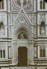 Florence Cathedral Door, Italy, Magic Lantern Glass Slide
