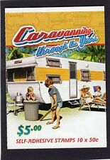 2007 AUSTRALIAN STAMP BOOKLET CARAVANNING YEARS 1970's 10 x 50c STAMPS MUH