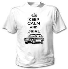 POLISH MALUCH KEEP CALM AND DRIVE 2P - WHITE COTTON TSHIRT