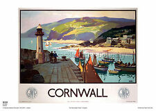 CORNWALL St IVES VINTAGE POSTER RETRO HOLIDAY  RAILWAY TRAVEL ADVERTISING ART